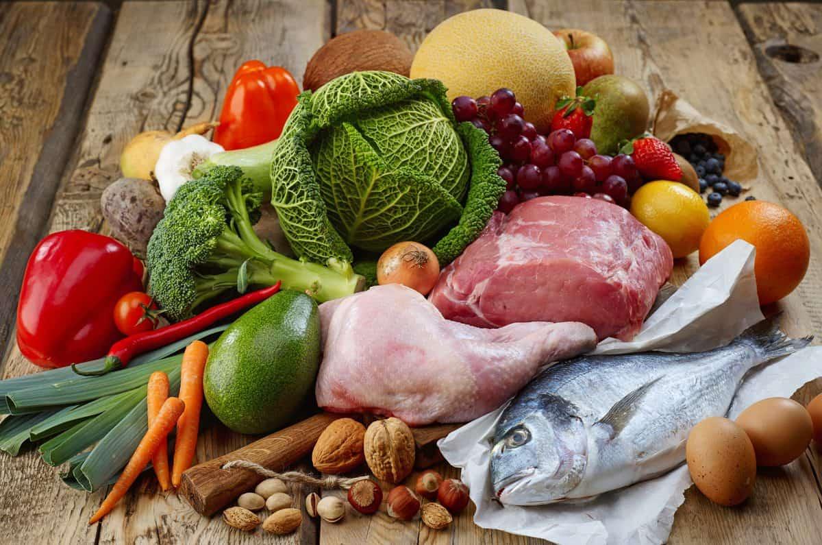 Verschiedenes, Paleo, Diät, Produkte, On, Holz, Tisch