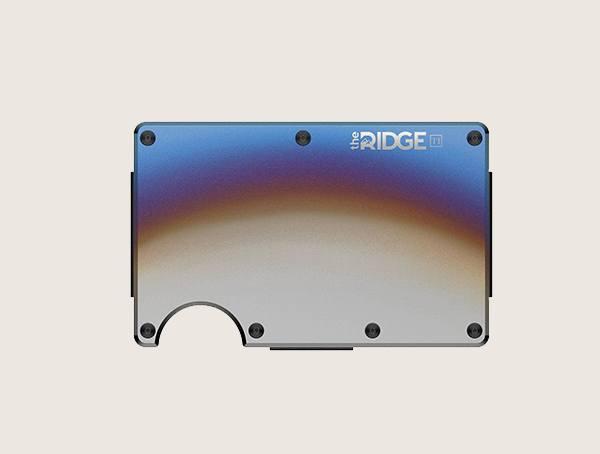 The Ridge Men's Burnt Titanium Wallet