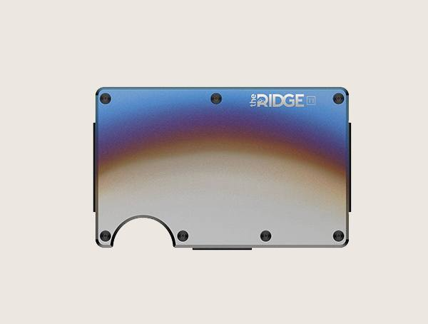 The Ridge Titanium Burnt Metal Wallet For Men