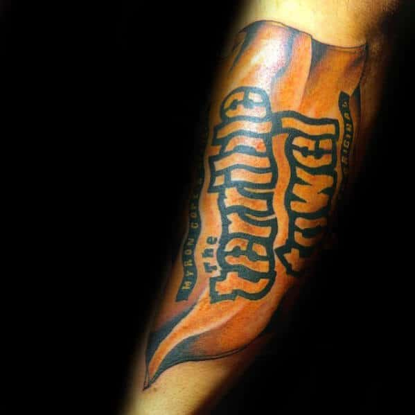 The Terrible Towl Pittsburgh Steelers Mens Forearm Tattoo