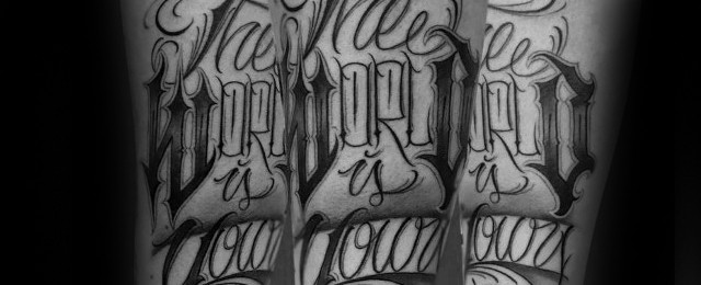 The World Is Yours Tattoo Designs For Men