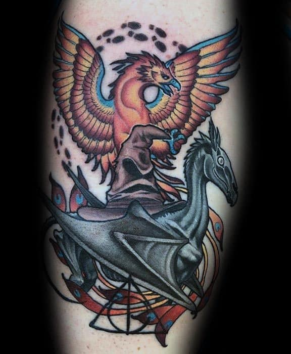 Thestral Tattoo Designs For Guys