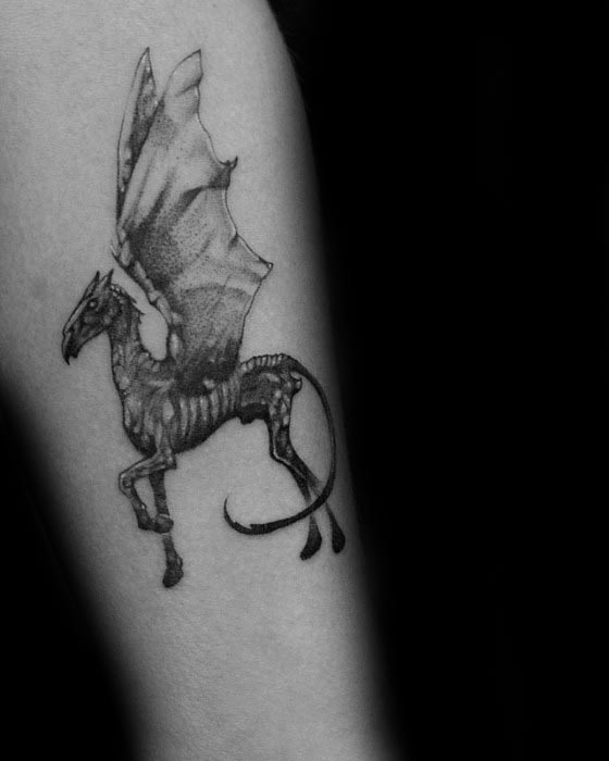 Thestral Tattoo Ideas For Males