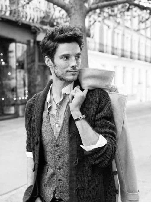 Thick Messy Hipster Hairstyles For Men With Wavy Hair