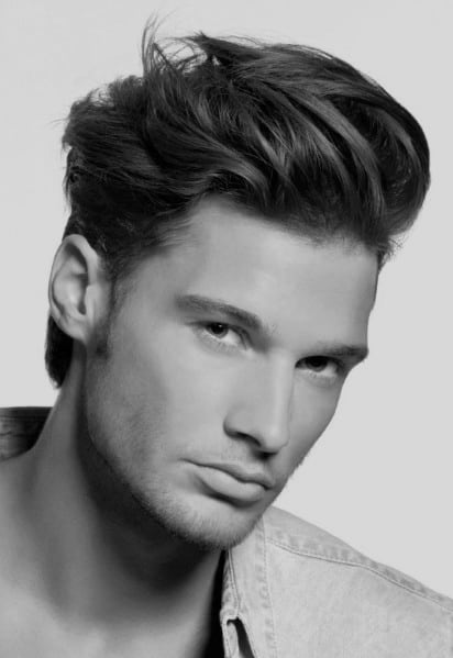 Thick Top Cool Haircut For Men
