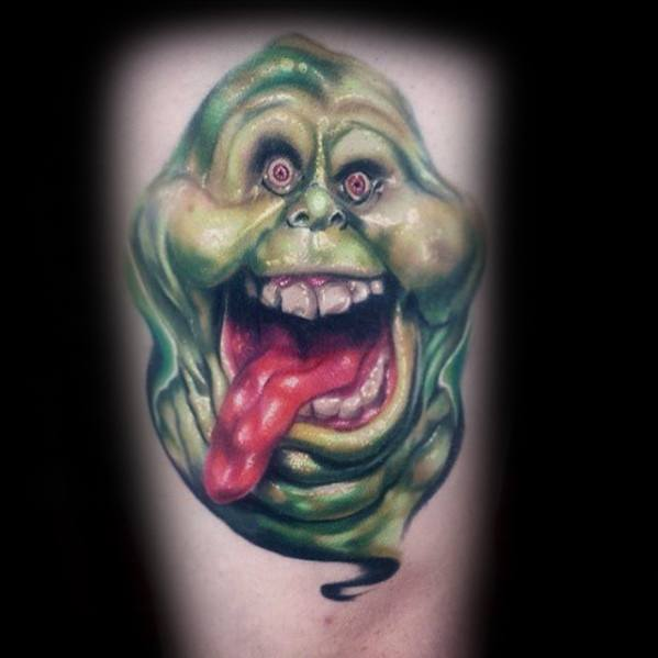 Thigh 3d Ghostbusters Guys Tattoo Ideas