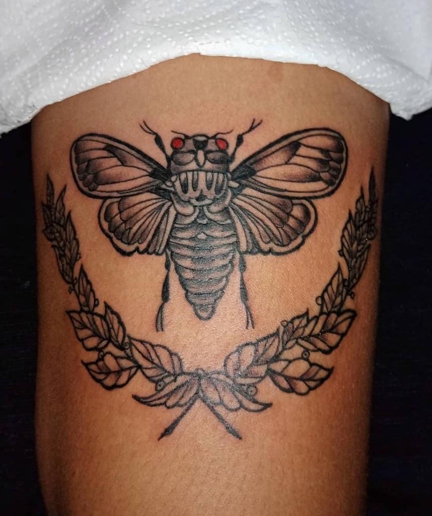 thigh Cicada Tattoos myrrhsartgallery