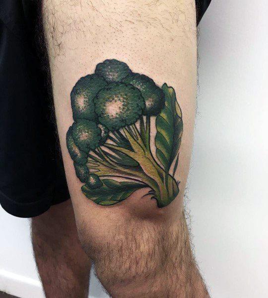 Thigh Broccoli Mens Tattoos