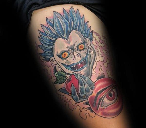 Thigh Death Note Guys Tattoos