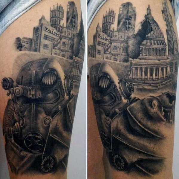 70 Fallout Tattoo Designs For Men - Video Game Ideas