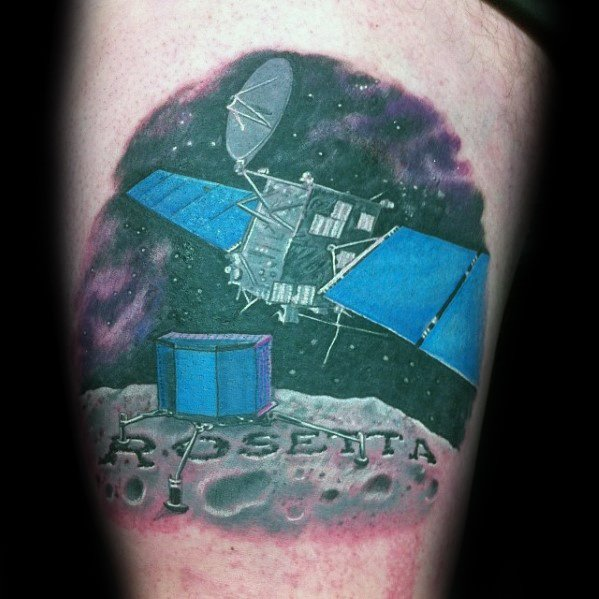Thigh Guys Satellite Tattoo Designs