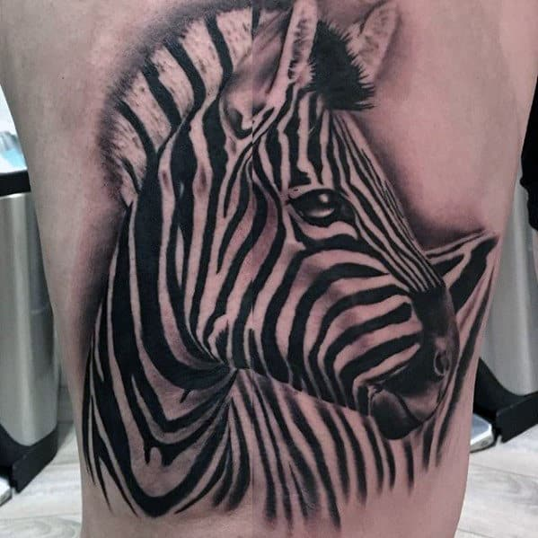 40 zebra tattoos for men safari striped design ideas. Black Bedroom Furniture Sets. Home Design Ideas