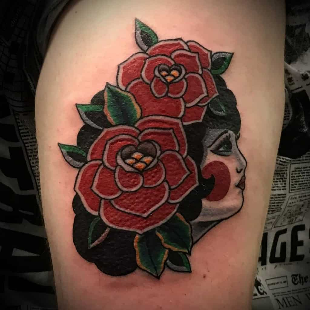 thigh gypsy rose tattoos d.k.wellburn