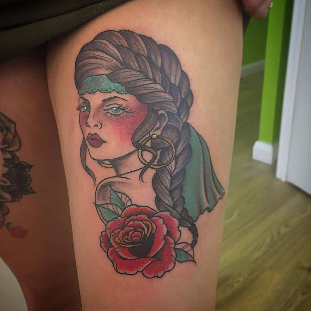 thigh gypsy rose tattoos theta2room