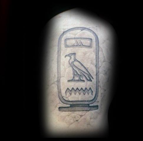 Thigh Hieroglyphics Tattoo Designs For Guys