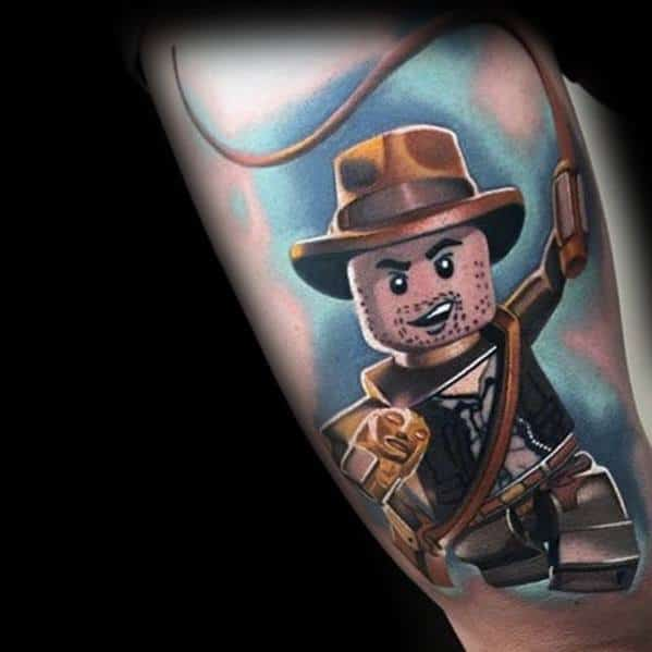 Thigh Lego Man Tattoo Ideas Indiana Jones
