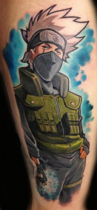 30 Kakashi Tattoo Designs For Men - Anime Ink Ideas
