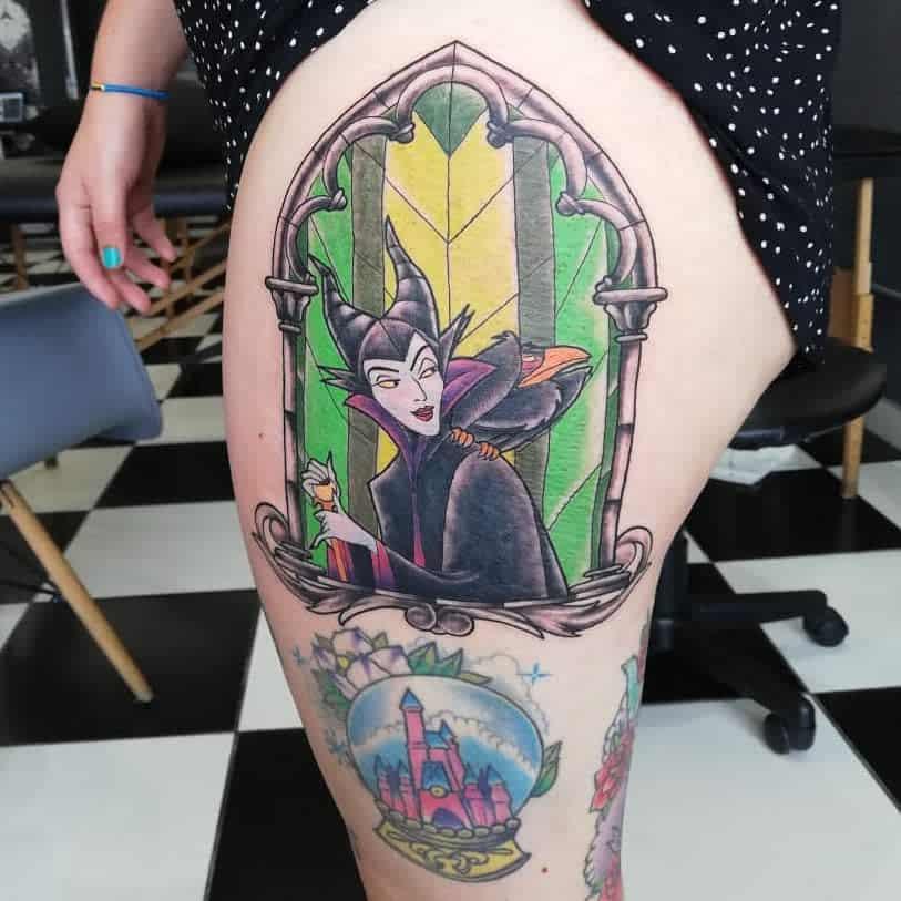 Thigh Maleficent Tattoos Megipixels