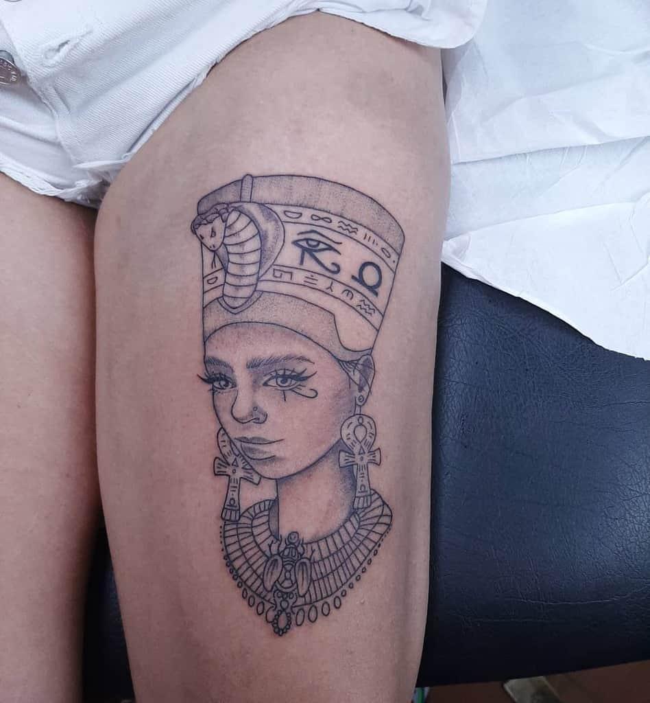 Thigh Nefertiti Tattoos Ilpadrinotattoo