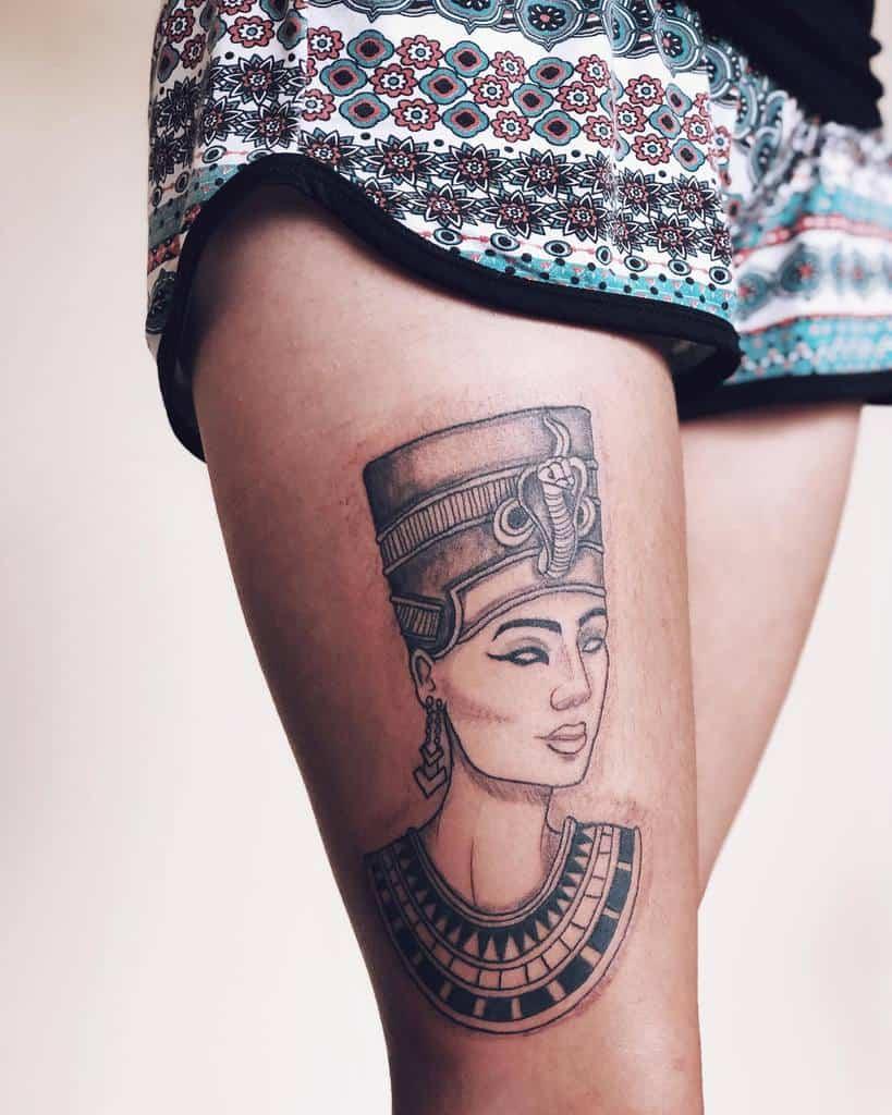 Thigh Nefertiti Tattoos Jessicasm.tattoo