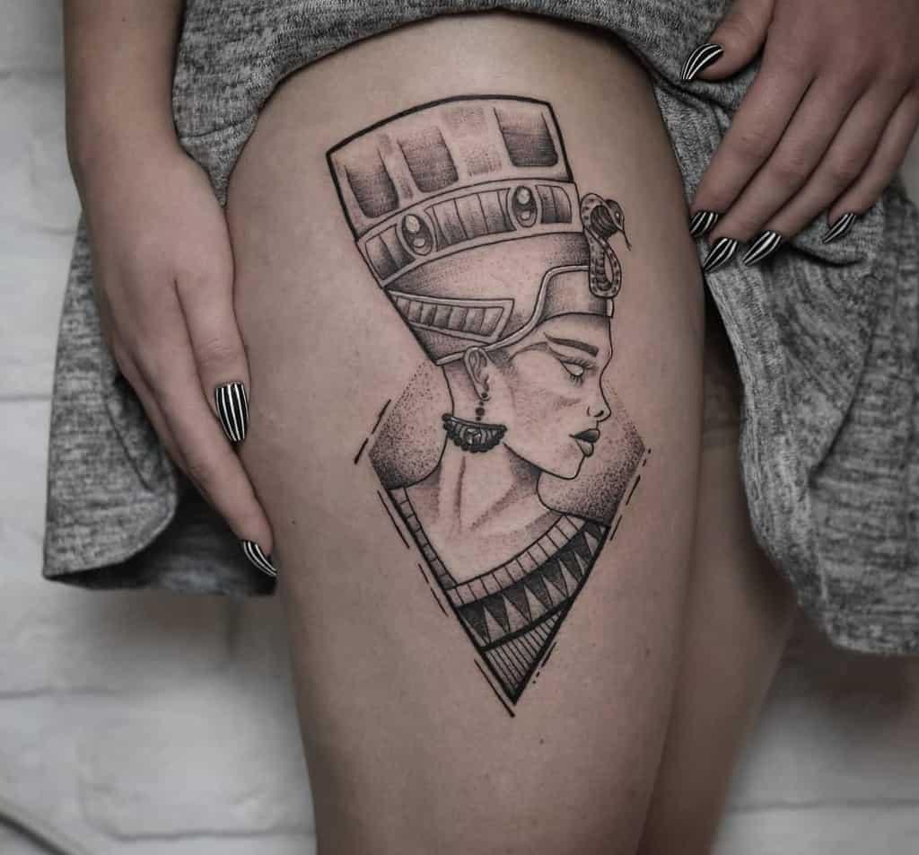 Thigh Nefertiti Tattoos Malistudiokrapina