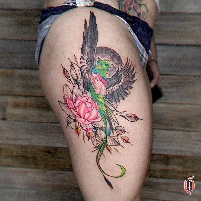 Thigh Quetzal Tattoos Lazlodasilva