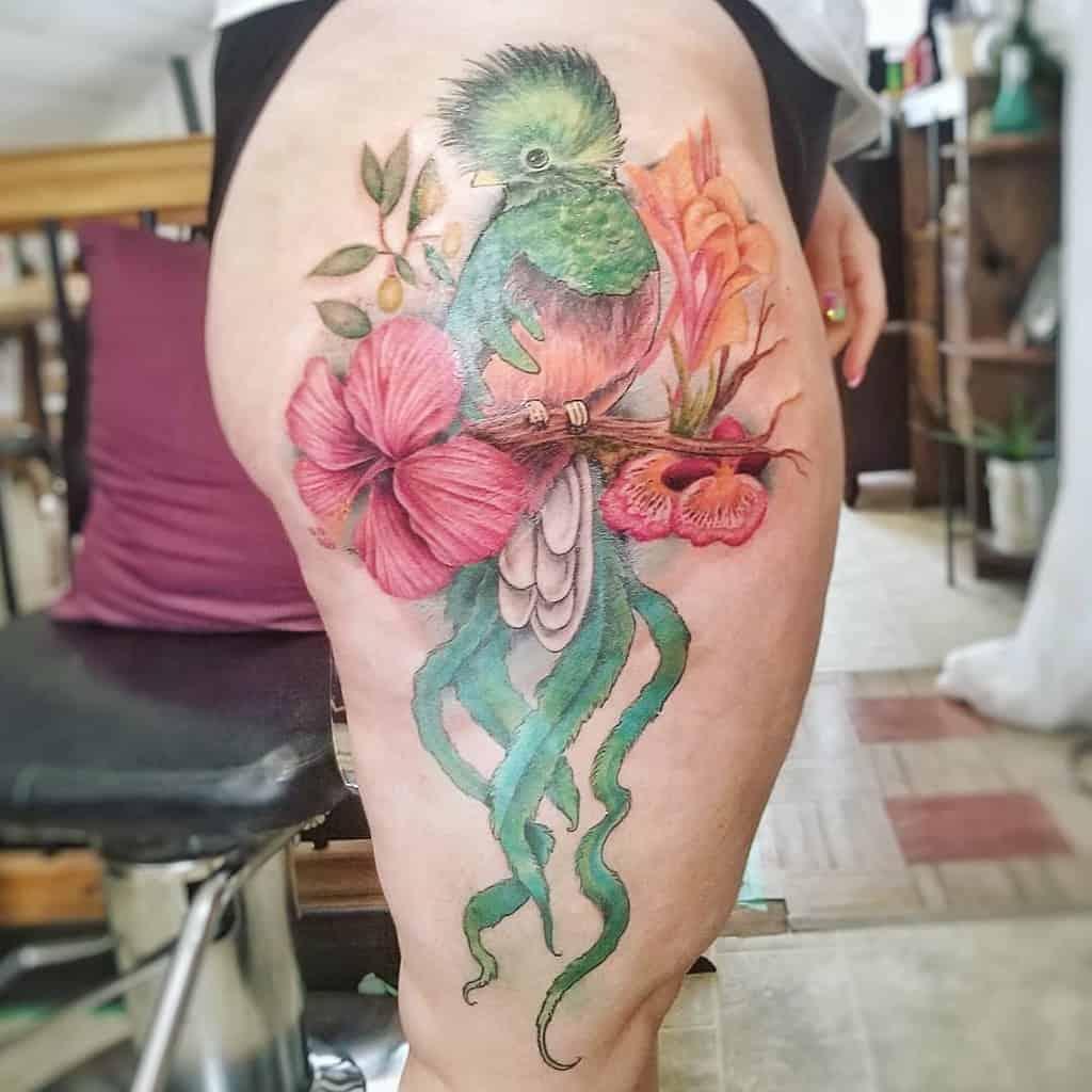 Thigh Quetzal Tattoos Martistic