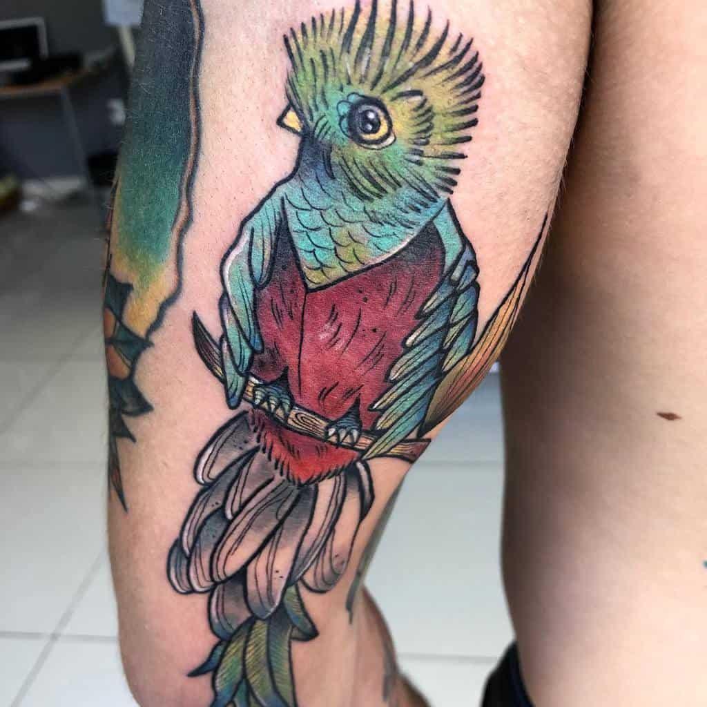 Thigh Quetzal Tattoos Pamzapata