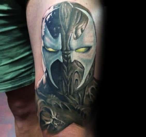 Thigh Spawn Male Tattoo