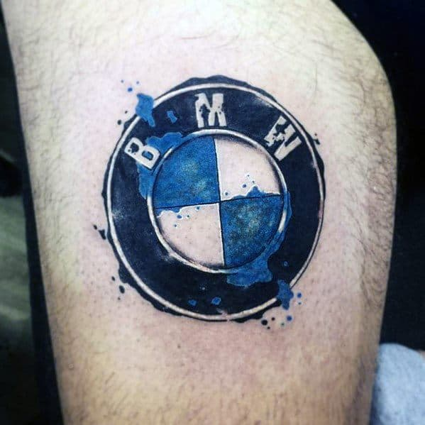 Thigh Watercolor Tattoo Designs Bmw Ideas For Men