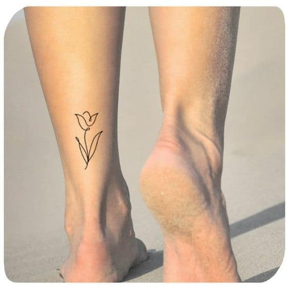 Thin Tulip Tattoo