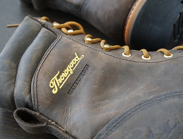 Thorogood Logger Series 9 Inch Brown Crazyhorse Waterproof Guys Rugged Leather Boots