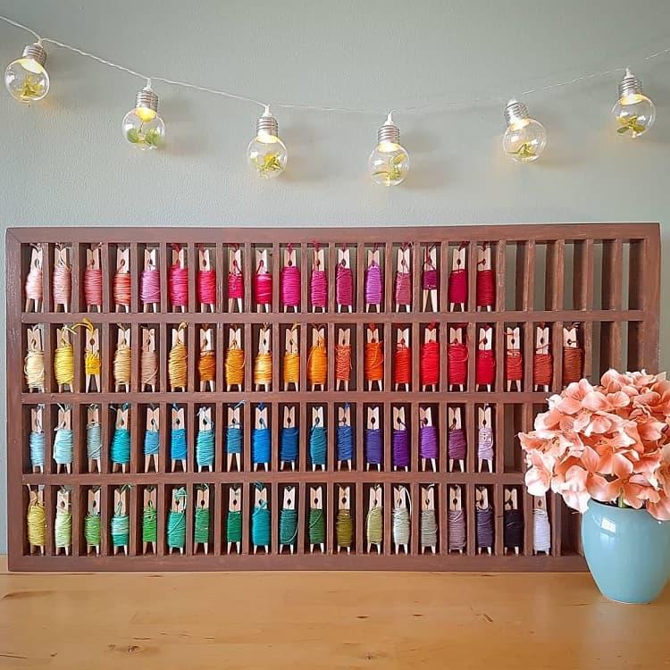Thread Organizer Craft Room