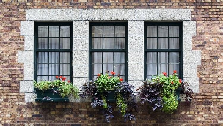 Three Black Exterior Window Trim For Brick Homes