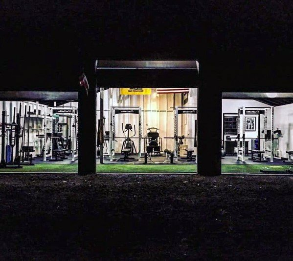 Three Car Garage Gym Design Ideas