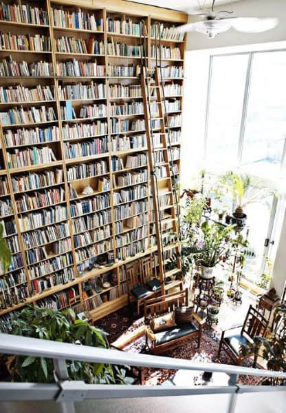 Three Story Ideas For Floor To Ceiling Bookshelves Interior
