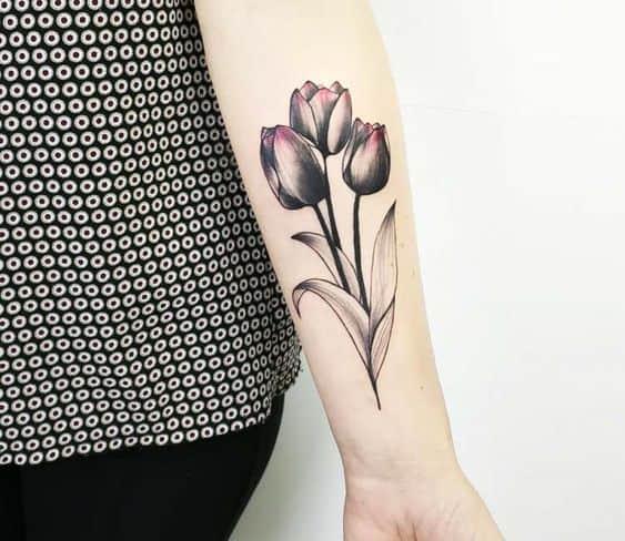 Three Tulip Tattoo