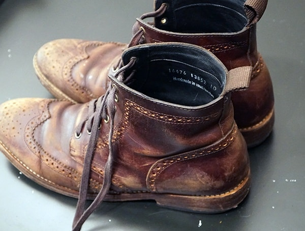 Thursday Boot Company Review Brown Wingtip Boots After 6