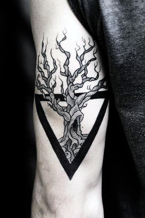 Ticep Guys Triangle Tree Of Life Tattoo