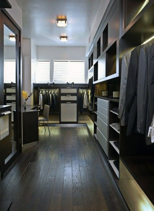 Tidy Mens Closet Organizational Ideas