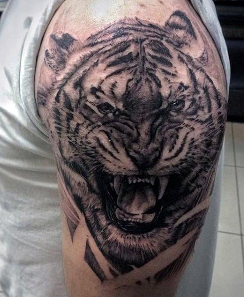 Tiger Arm Men's Tattoo
