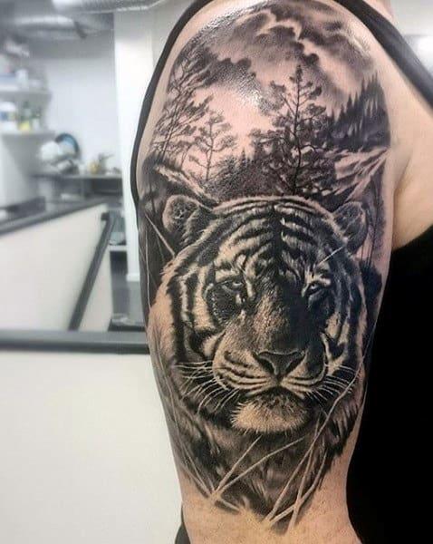 Tiger Arm Tattoo For Men