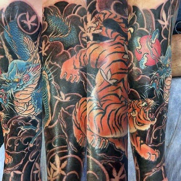 Tiger Dragon Guys Tattoo Ideas