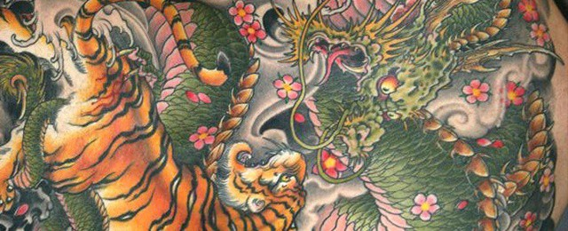 Tiger Dragon Tattoo Designs For Men