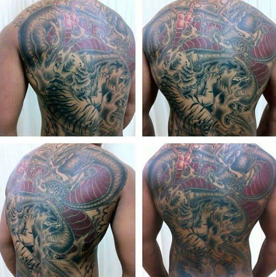 Tiger Dragon Tattoos For Gentlemen