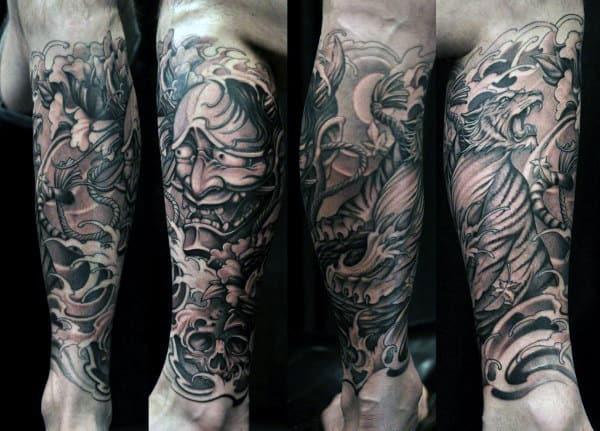 Tiger Eye Tattoos For Gentlemen