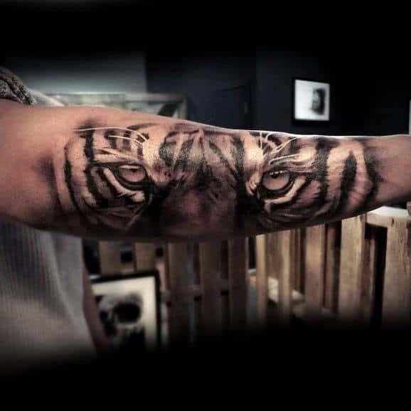 Tiger Eyes Male Tattoos