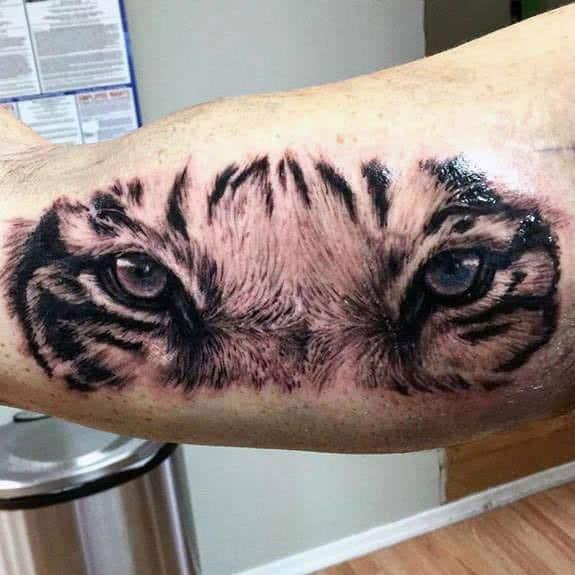 Tiger Eyes Mens Tattoo Designs
