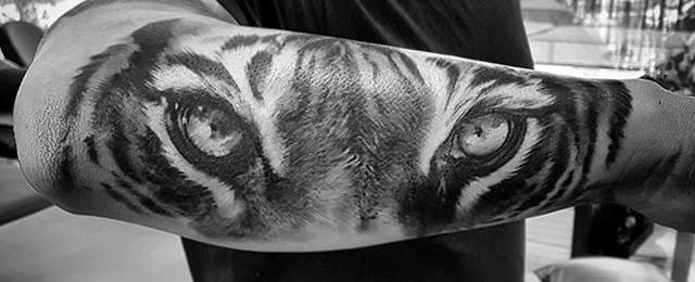 Tiger Eyes Tattoo Designs For Men