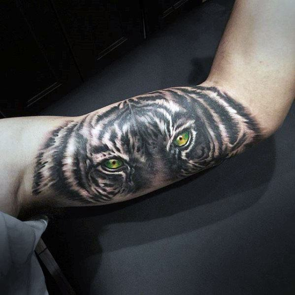 Tiger Eyes Tattoo Ideas For Males